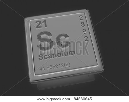 Scandium. Chemical element. 3d