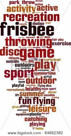 Frisbee Word Cloud