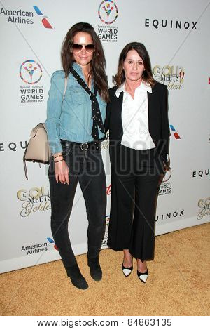 LOS ANGELES - FEB 21:  Katie Holmes, Nadia Comaneci at the 3rd