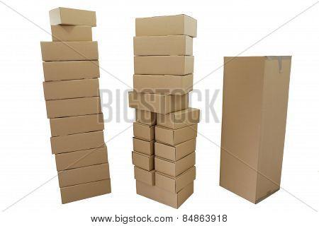 Three Cardboard Stack