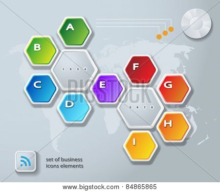 Abstract Infographic. Vector illustration. Diagram, Web Design.