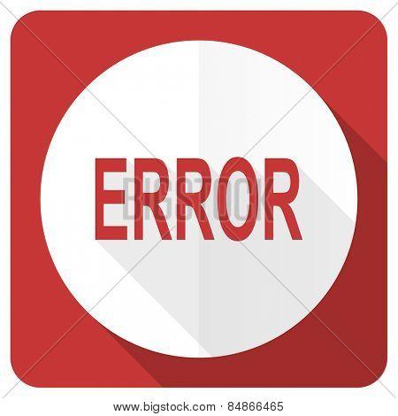 error red flat icon