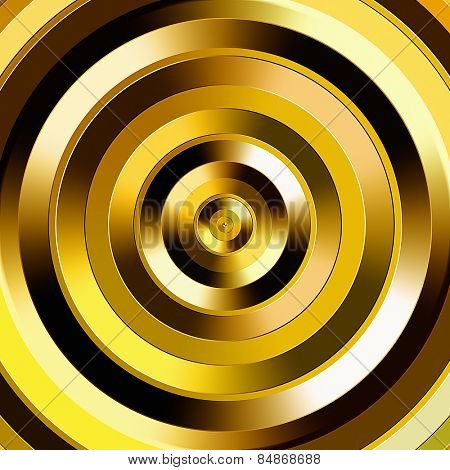 Golden color graduated circles.