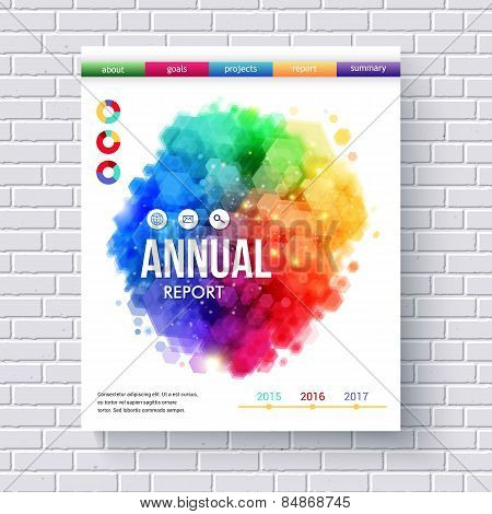Business Web Template Emphasizing Annual Reports