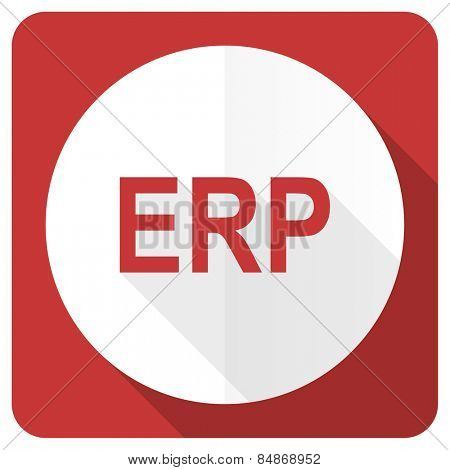 erp red flat icon