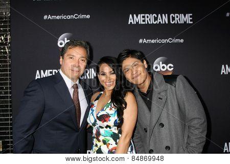 LOS ANGELES - FEB 28:  Benito Martinez, Gleendilys Inoa, Johnny Ortiz at the