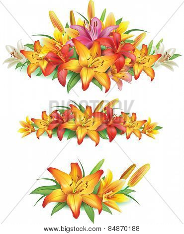 Garlands of yellow lilies