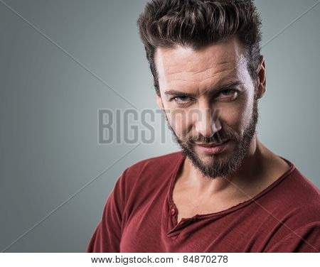 Smiling Flirty Guy Portrait