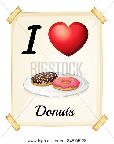 I love donuts sign