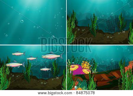 Four underwater scenes