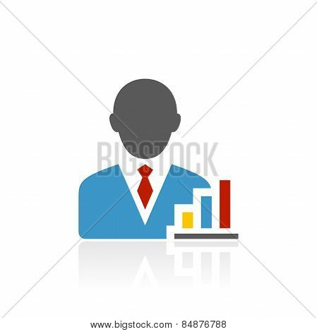 Accent Series Businessman Icon