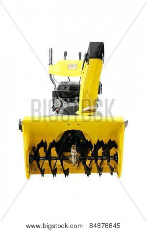 Snowplow isolated under the white background