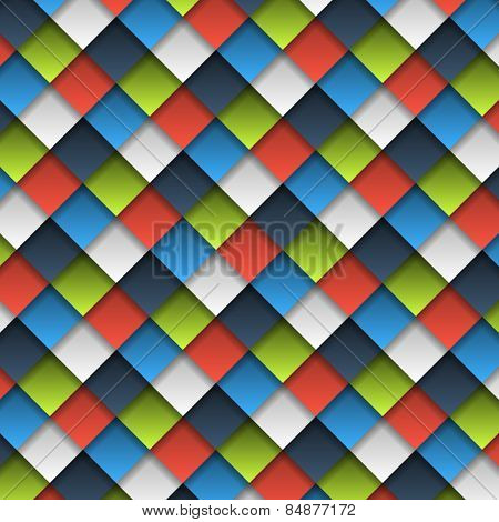 Colorful Cubes Seamless Pattern
