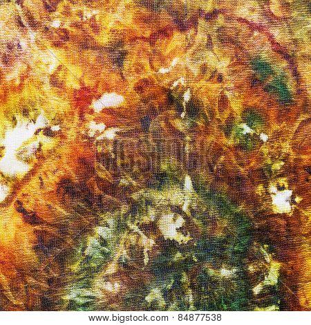 Fragment Of Painting On Silk Batik