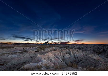 Constellation Of Ursa Major Over Badlands