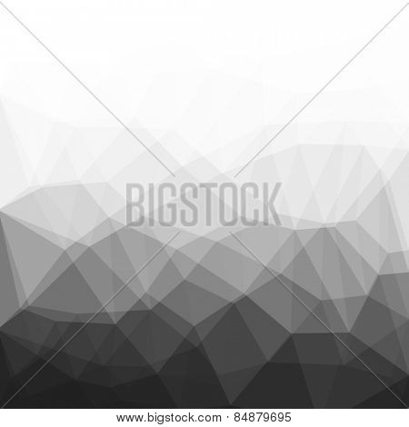 low-poly background black white