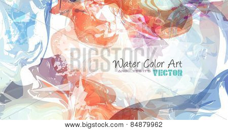 Watercolor Background and yes... it's vector! To use for poster, flyer background, page covers, letterheads, hipster stuff, business cards, brochures template and so on