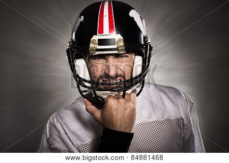 Football Player With Helmet