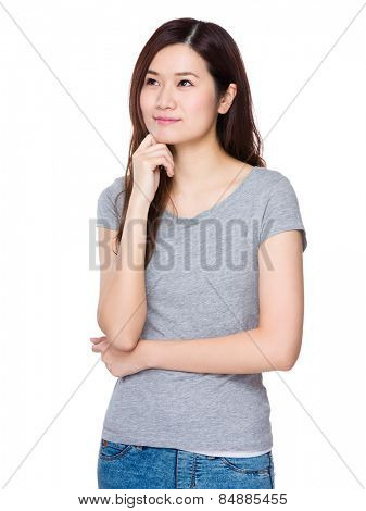 Woman think of idea