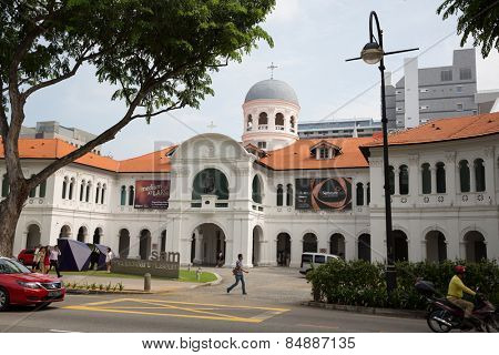 SINGAPORE - JANUARY 26, 2015: St. Joseph's Institution is a Catholic secondary school for male students in Singapore. It was founded in 1852, It is the oldest Catholic school in Singapore.