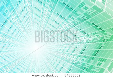 Technology Tunnel with Fast Digital Data Packets