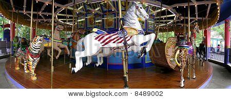 Carousel At Park