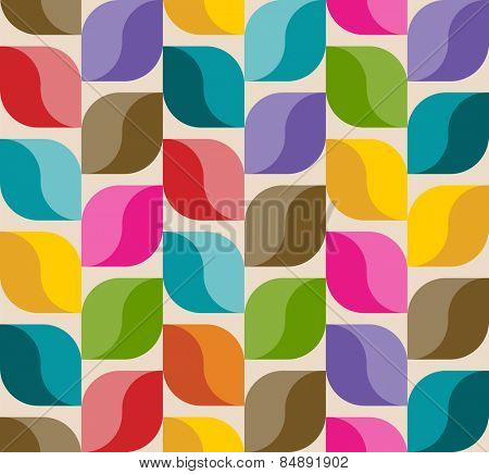 Abstract background pattern, colorful leaves, vector illustration