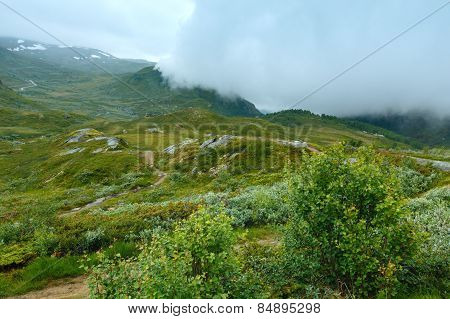 North Norway Cloudy Summer Mountain