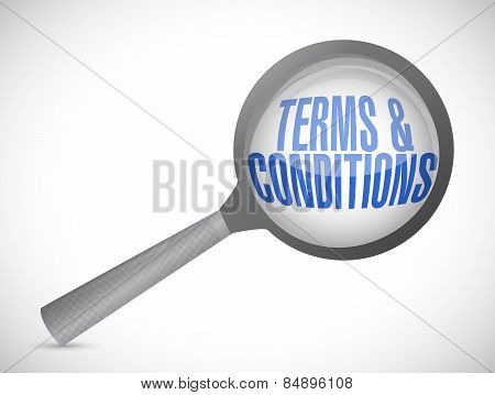 Terms And Conditions Magnify Glass