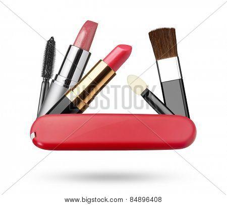 Set of make-up, isolated on white background