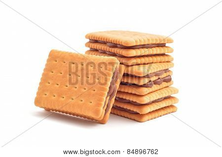 Chocolate Filling Biscuits