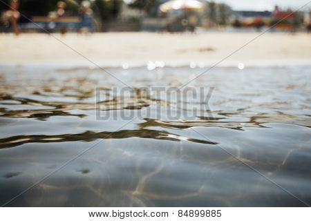 sea and the beach, selective focus