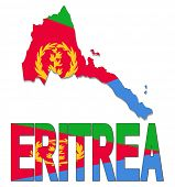 stock photo of eritrea  - Eritrea map flag and text illustration - JPG