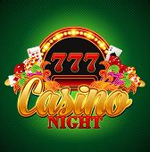 image of crap  - Casino background with cards - JPG