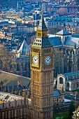 pic of british culture  - Big Ben clock tower at the British Parliament - JPG