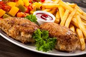 image of french fries  - Fried chops - JPG