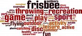 stock photo of frisbee  - Frisbee word cloud concept - JPG