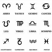 pic of pisces horoscope icon  - Set zodiac sign vector Illustration - JPG