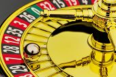stock photo of las vegas casino  - the cylinder of a roulette gambling in a casino - JPG