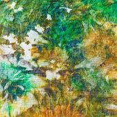 picture of batik  - detail of painting on silk batik close up - JPG