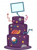 picture of bakeshop  - Illustration of an Appetizing Cake Designed With Heavenly Bodies - JPG