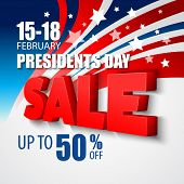 stock photo of election campaign  - Presidents Day Vector Background - JPG