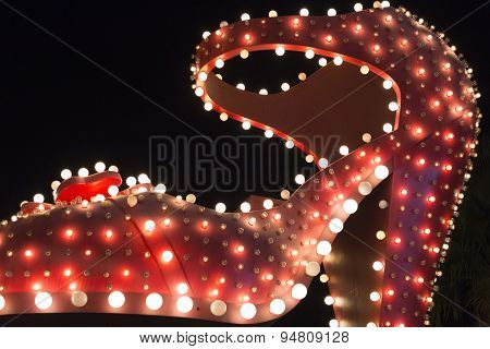 Silver Slipper Of Neon Museum