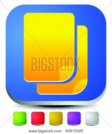 Paper Icon, Pair Of Paper Graphics For Related Concepts. Contract, Stationary, Documents, Files. Edi