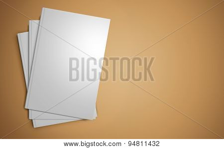 Stack of blank book templates