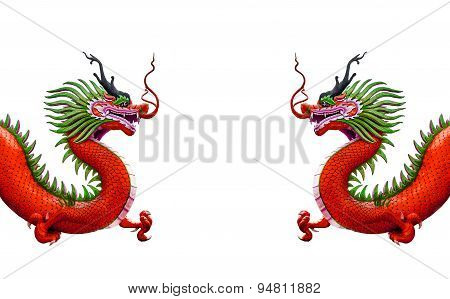 Chinese Dragon Statue Isolated