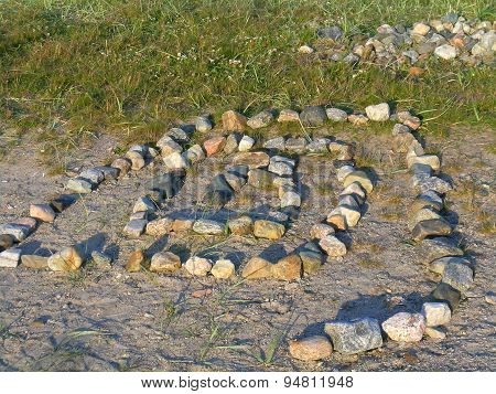 Stone labyrinth in the Solovetsky Islands