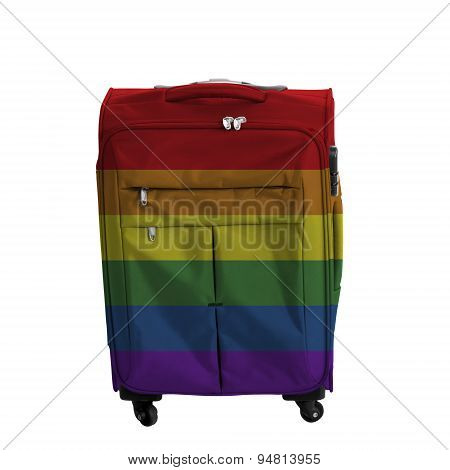 Travel Baggage With Lgbt Flag