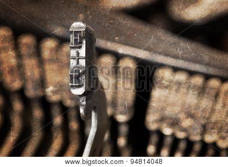 F Hammer - Old Manual Typewriter - Warm Filter