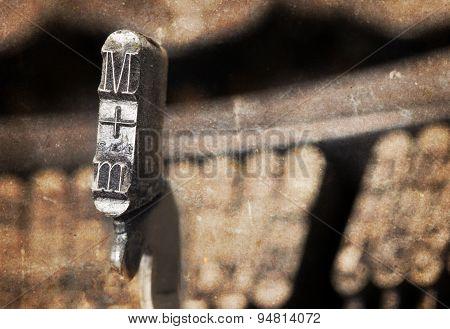 M Hammer - Old Manual Typewriter - Warm Filter